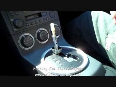 how to nissan 350z bose 6 cd stereo radio removal 2003 2005 rh youtube com Navigator for Nissan 350Z 350Z Wood Grain