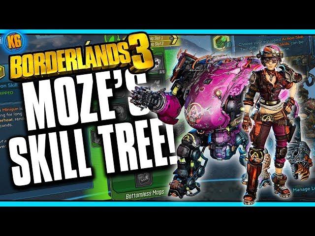 Borderlands 3: Moze the Gunner's Skill Trees Revealed | Game