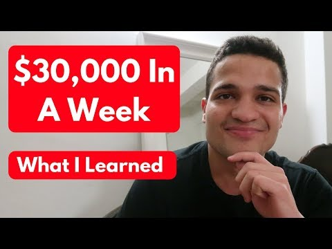 $30,000 In A Week - Lessons On My Success with Shopify Dropshipping in 2019 thumbnail