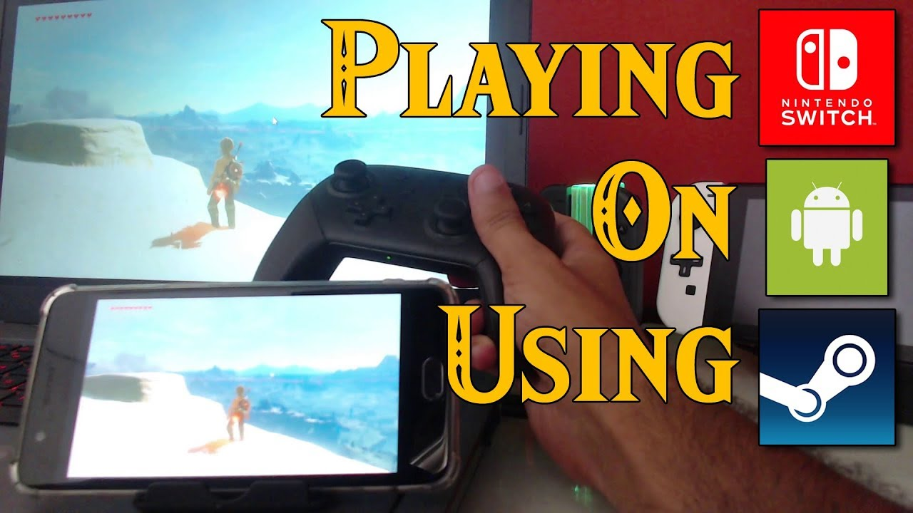 Playing Nintendo SWITCH Games on ANDROID Using STEAM LINK! A Multiplatform  PARADOX!
