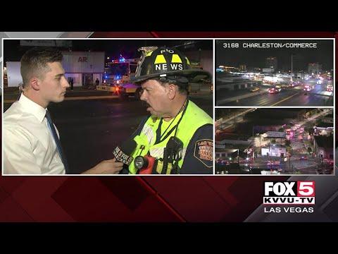 Fire Burns Vacant Downtown Las Vegas Building