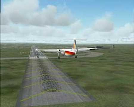 Air Nostrum's Dash8 land in Valencia