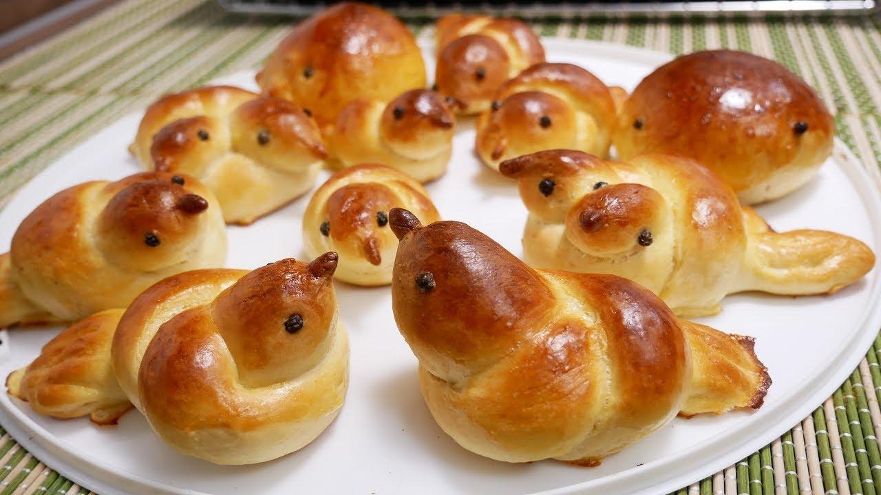 BÁNH MÌ NGỌT – Cách làm Bánh mì Bơ Sữa – How to make Bird Bread by Vanh Khuyen