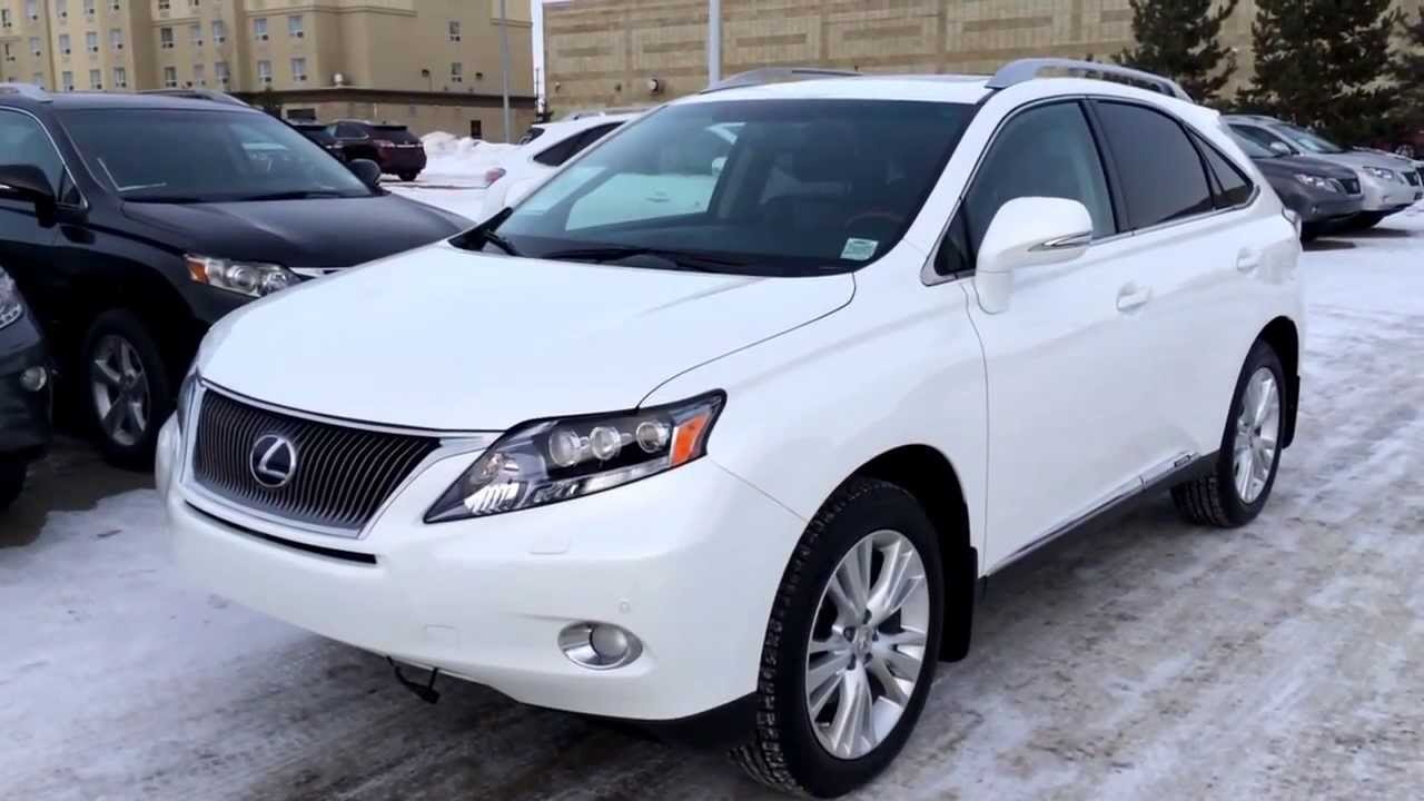 Lexus Certified Pre Owned 2011 White RX450h Hybrid Ultra Premium