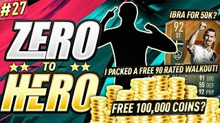 I PACKED A FREE 90 WALKOUT! FIFA 19 ZERO TO HERO