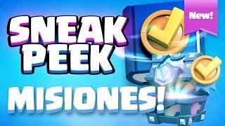 LAS MISIONES. Consigue cofres Legendarios o Super Mágicos GRATIS  | Sneak Peek | Clash Royale