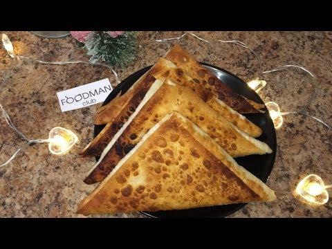 Треугольники с картофелем и творогом: рецепт от Foodman.club