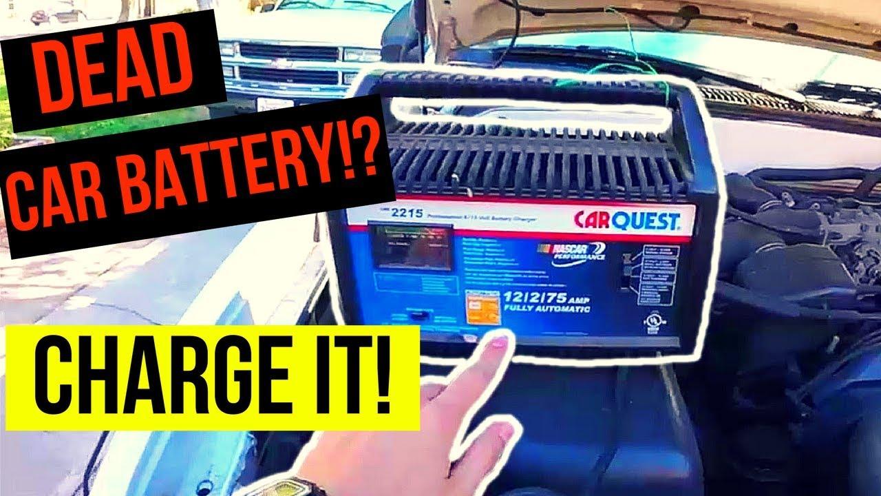 How To Correctly Charge A Dead Car Battery -Jonny DIY