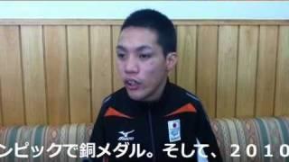 アジアパラ競泳で金の中村選手が仁坂知事表敬