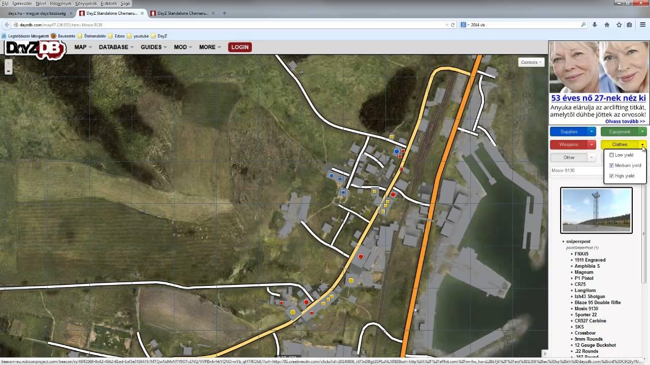dayz térkép DayZ tippek   A térkép (második rész)   YouTube