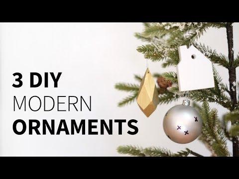 3 ornaments 3 ways (wood, corian, and sharpie)