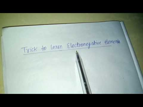 Trick to learn electronegative element