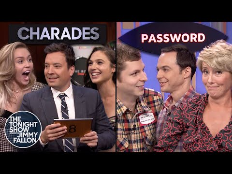 Tonight Show Games with Gal Gadot, Miley Cyrus, Emma Thompson, Michael Cera & Jim Parsons