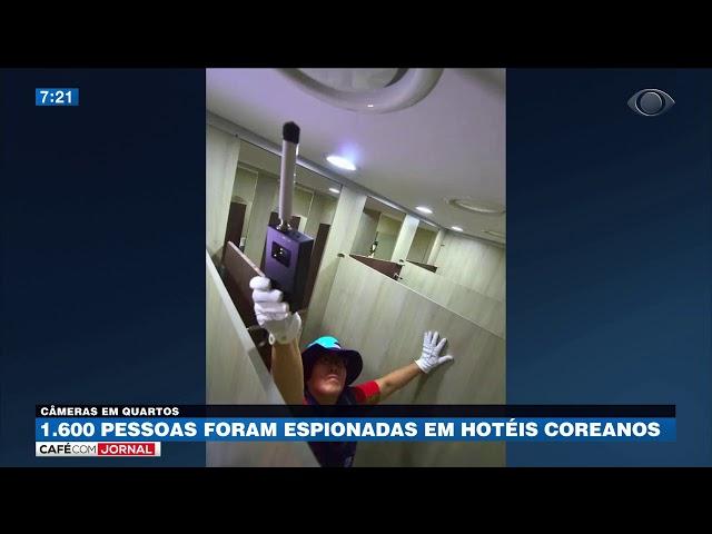 1,6 mil pessoas foram espionadas em hotéis coreanos