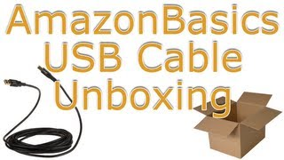 AmazonBasics USB 2.0 A-Male to B-Male Cable Unboxing