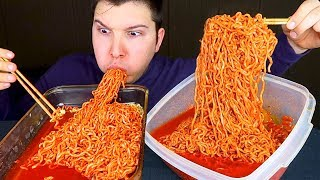 SPICY NOODLE CHALLENGE IN BLOVE'S SPICY SEAFOOD SAUCE • Mukbang & Recipe
