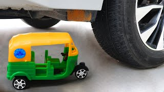 Experiment Car vs Plastic Auto Rickshaw And Toys Cars | Crushing Crunchy & Soft Things by Car