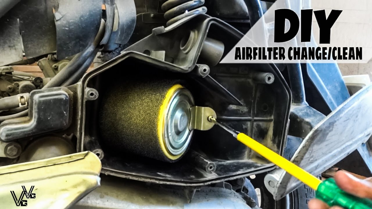 How To Change/Clean AIRFILTER Of A Scooter - DIY