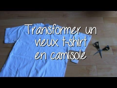 do it yourself transformer un vieux t shirt en camisole youtube. Black Bedroom Furniture Sets. Home Design Ideas
