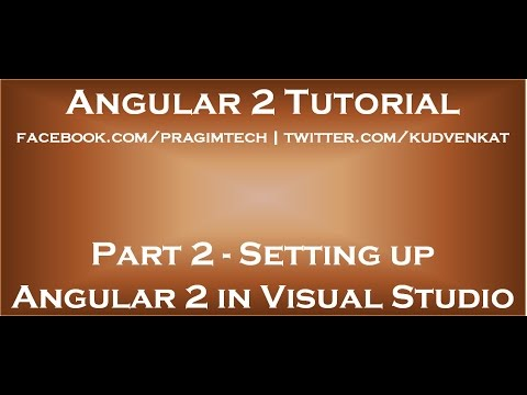 Setting Up Angular 2 In Visual Studio Youtube