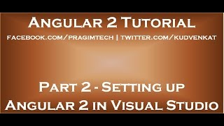setting up angular 2 in visual studio