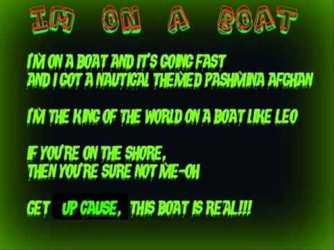 I'm On A Boat - The Lonely Island Instrumental Karaoke
