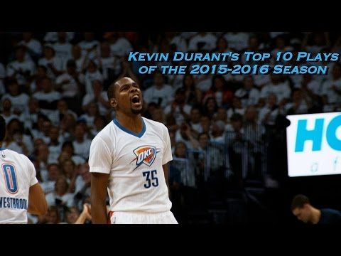 Kevin Durant's Top 10 Plays of the 2015-2016 Season