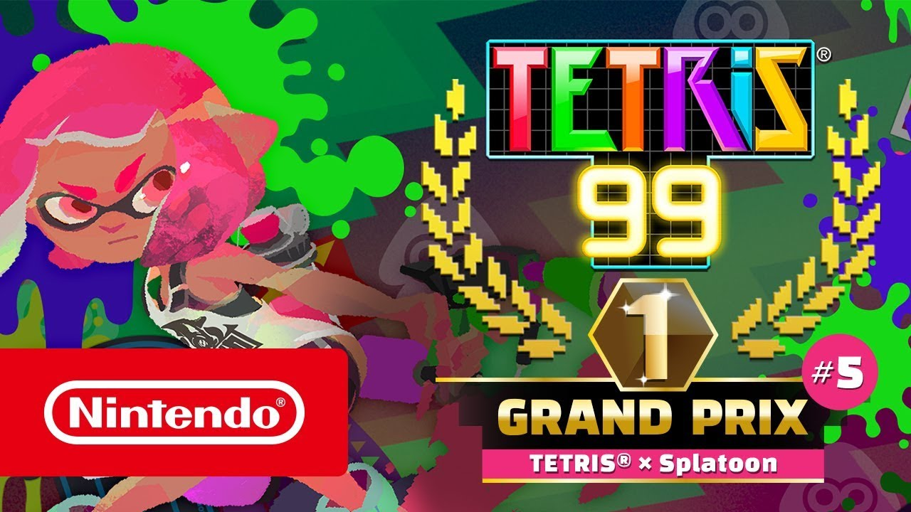 Tetris 99's latest event is a Splatoon 2 farewell crossover