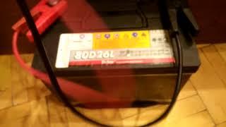 Проверка пускового тока на АКБ Delkor 80D26L
