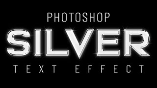 Photoshop Silver Text Effect - Free Photoshop Action