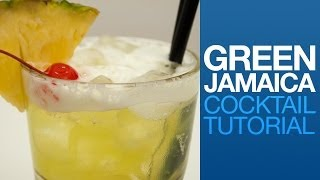 Green Jamaica / June Bug Cocktail Tutorial | Drink Corner