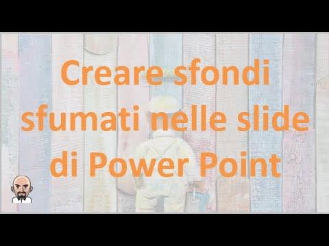 Come mettere lo sfondo powerpoint