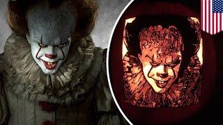 Pennywise Halloween art: It movie has taken pumpkin art to a new level this Halloween - TomoNews