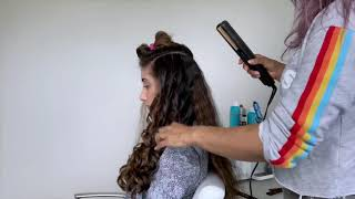 How to create Hollywood waves with a flat iron YouTube Videos