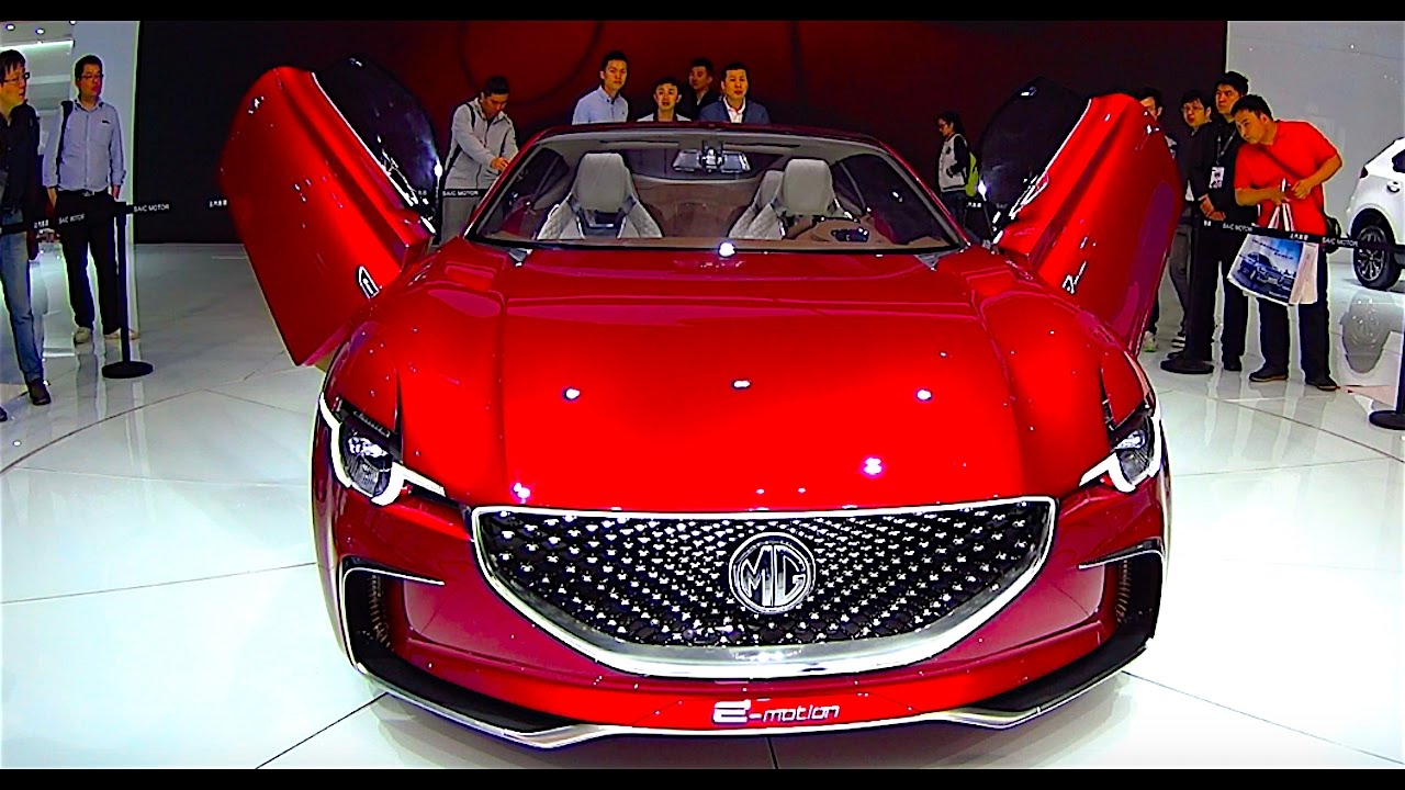 2017 mg e-motion concept    electric sport car    video review