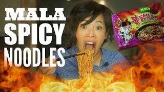 MALA SPICY Noodle CHALLENGE | Samyang Fire Ramen