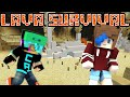 MINECRAFT LAVA SURVIVAL | TORCHES 4 DAYZ | GAMER CHAD & RADIOJH GAMES