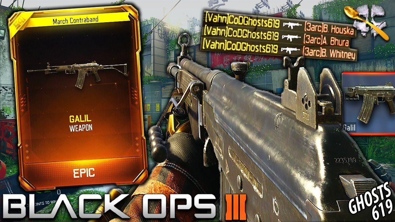 black ops 3 new galil gameplay galil gameplay bo3 youtube