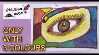 HOW PAINT SATISFIED REALISTIC EYE WITH ONLY THREE 3 COLOURS OF SCIENCE