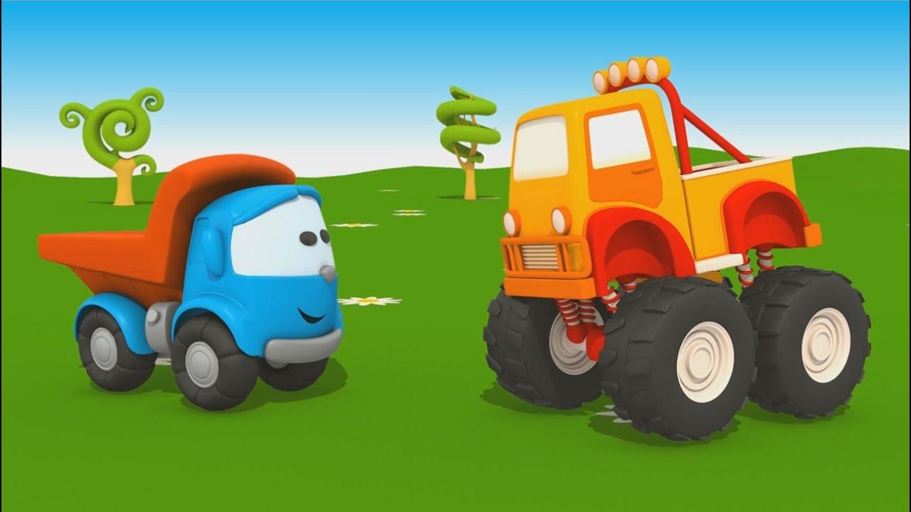Cartoni animati per bambini camion leo junior e il