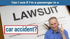 Injured as a passenger in a car accident – Who do I sue