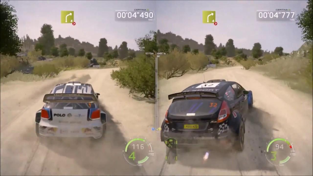 WRC 6 Split Screen Mode Gameplay