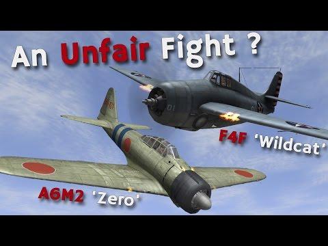 ⚜ | A6M2 'Zero' vs F4F 'Wildcat'  An Unfair Fight in the Pacific?