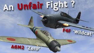 A6M2 'Zero' vs F4F 'Wildcat' - An Unfair Fight in the Pacific?