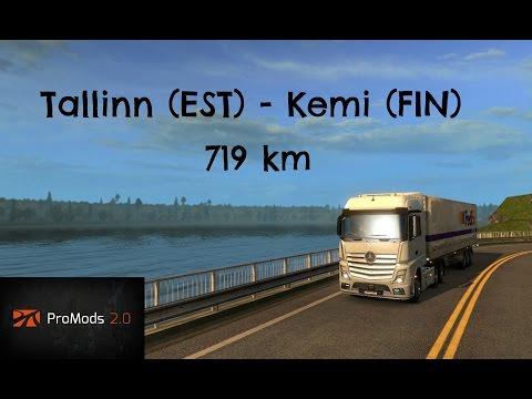 ets2 promods 2.0 Tallinn - Kemi (timelapse)
