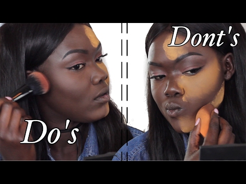 DO'S and DONT'S Highlight & Contour For Dark Skin WOC || Nyma Tang