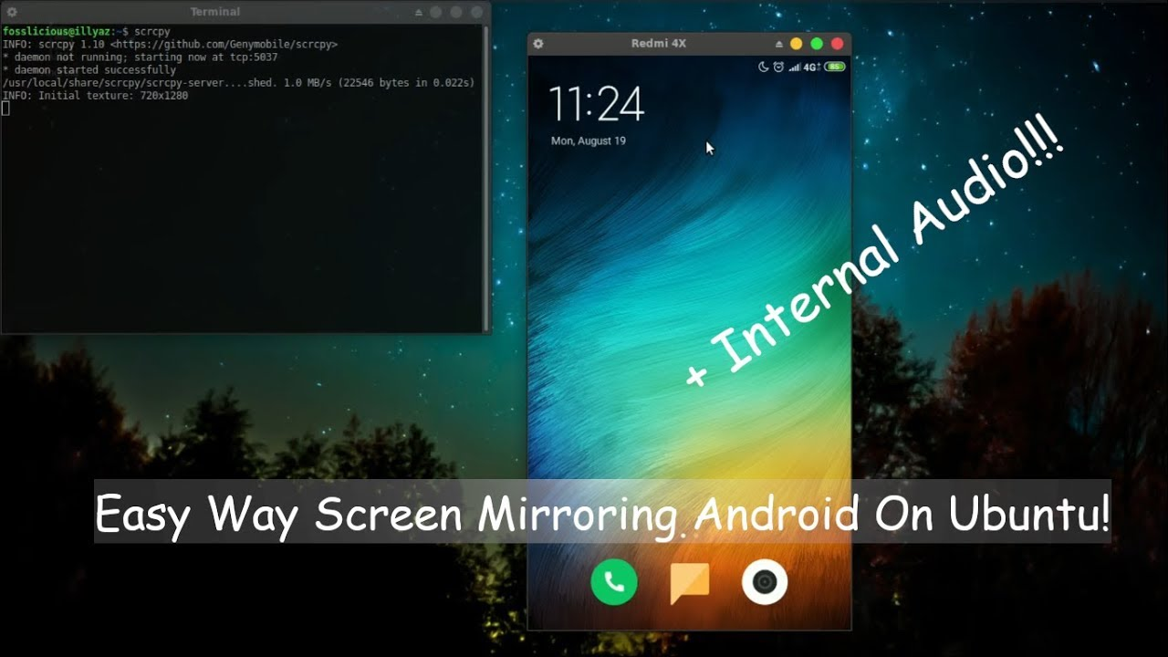 Easy Way to Screen Mirroring Android on Ubuntu! - Fosslicious