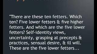 Ten Fetters : Sanyojana Sutta