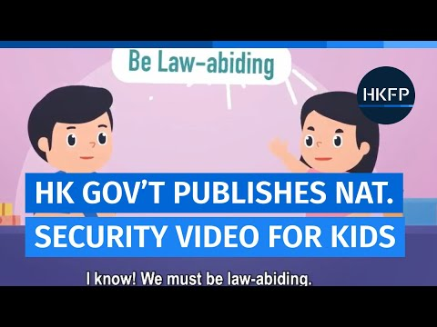 Hong Kong Education Bureau publishes national security video for primary children