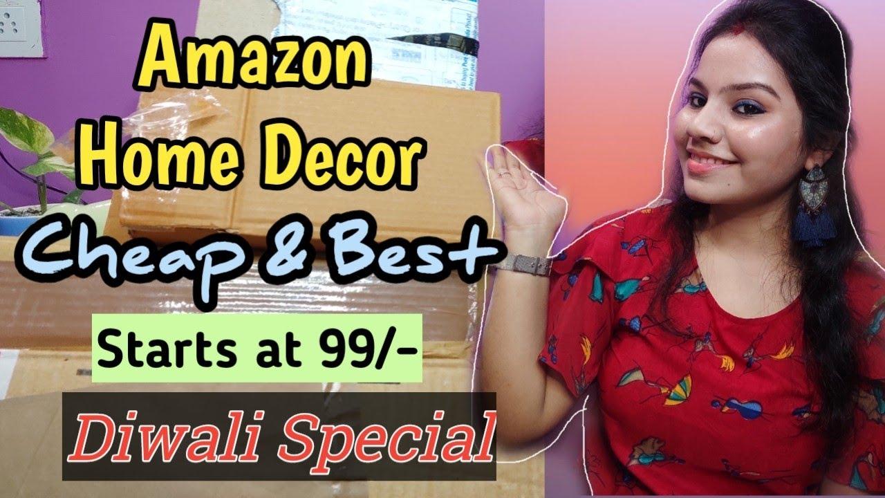 Amazon Home Decor Haul 2020 Diwali Decoration Ideas Cheap Home Decor Under 300 Anjusha Youtube